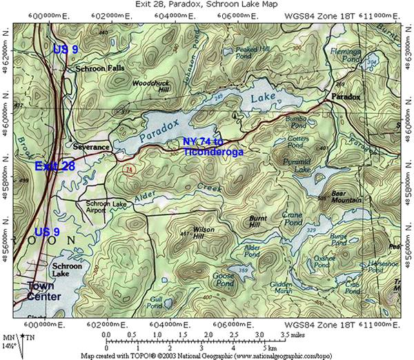 Interstate The Adirondack Northway Exit North Schroon - Adirondack mountains on us map