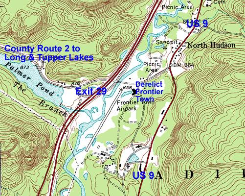 Exit 29, North Hudson Map