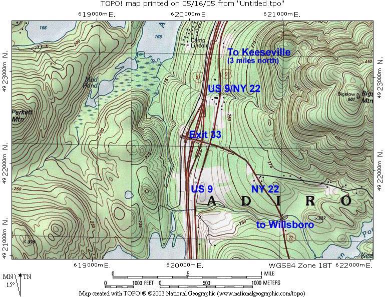 Exit 33 Topographic Map