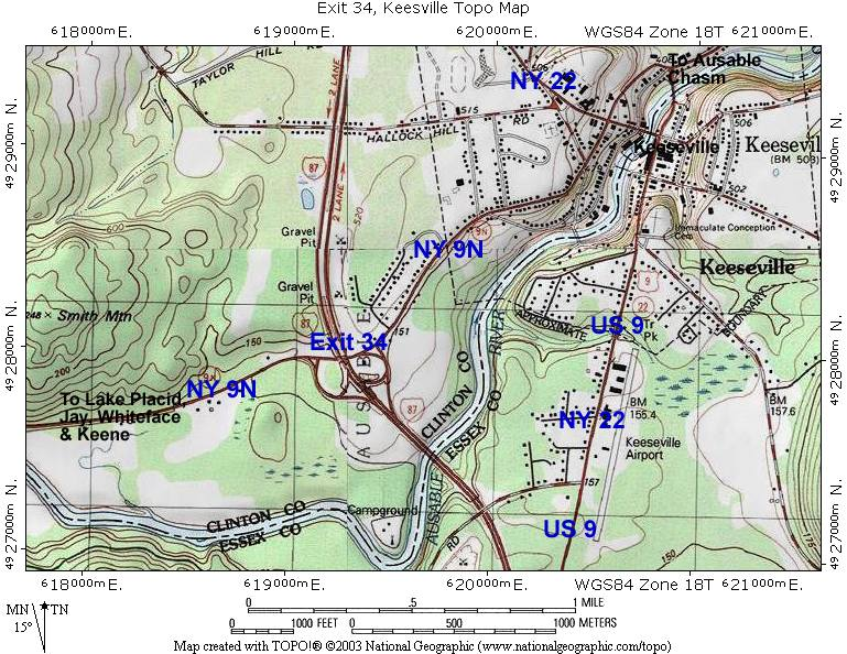 Exit 34 Topographic Map