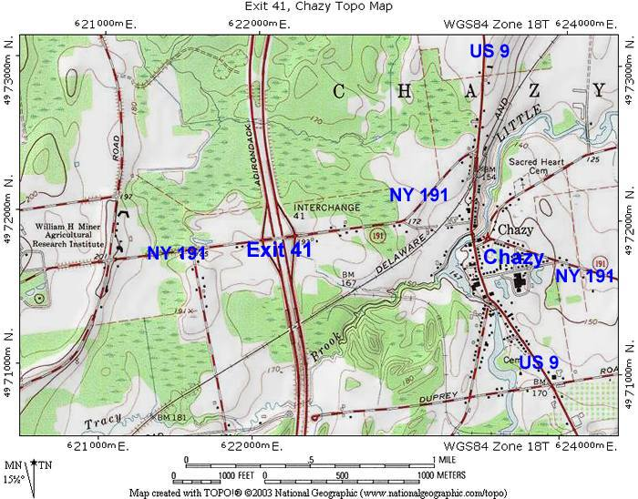 Exit 41 Topographic Map