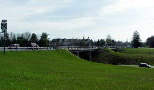 Exit 15 - Saratoga: Downtown, Malls NY 50, Skidmore College, Corinth. Facing towards Skidmore College and Corinth