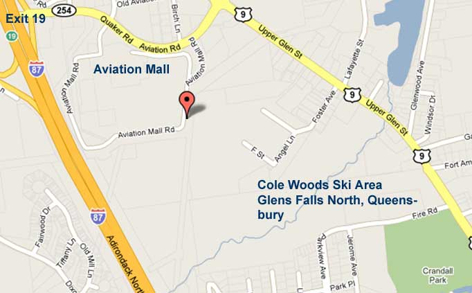 Cole Woods Road Map, in Glens Falls