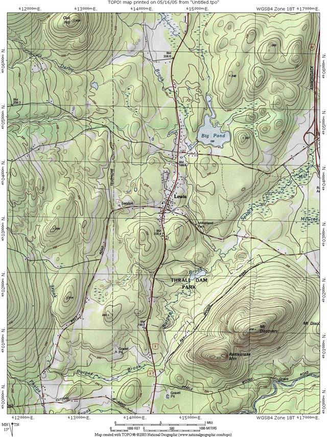 Lewis Topographic Map, click for larger map