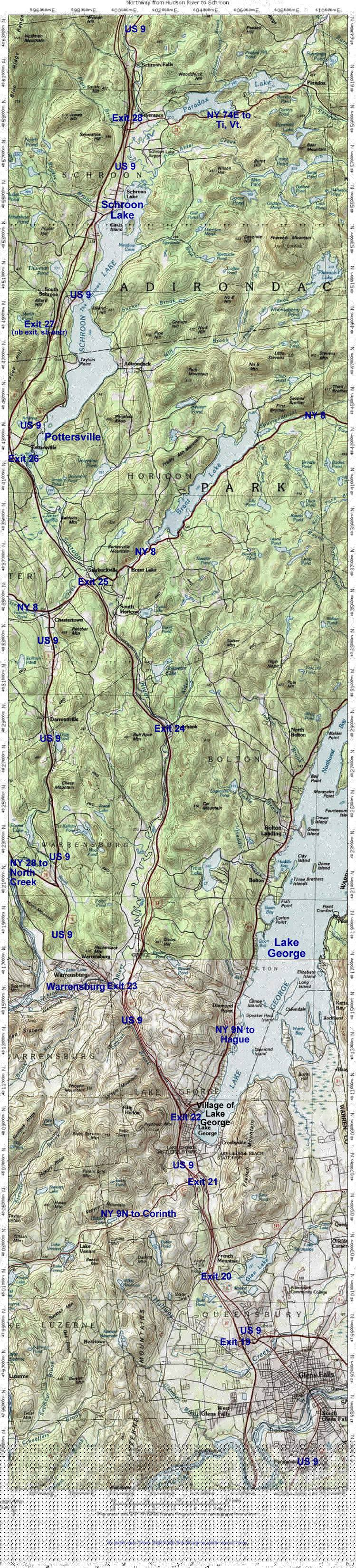 Road Map #2: From Glens Falls to Schroon Lake
