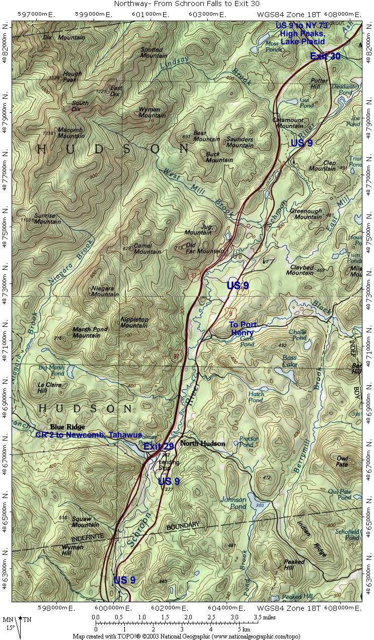 Road Map #3: From Schroon Lake to Exit 30