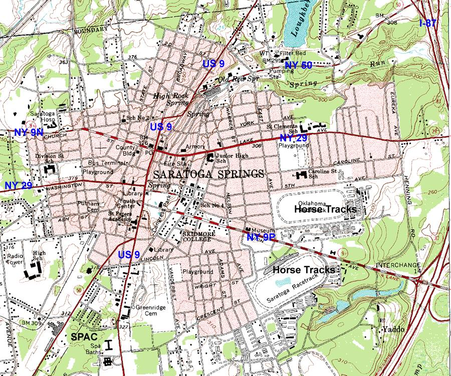 Saratoga Springs City Map