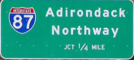I-87 Sign at the water stop at Exit 30, US 9