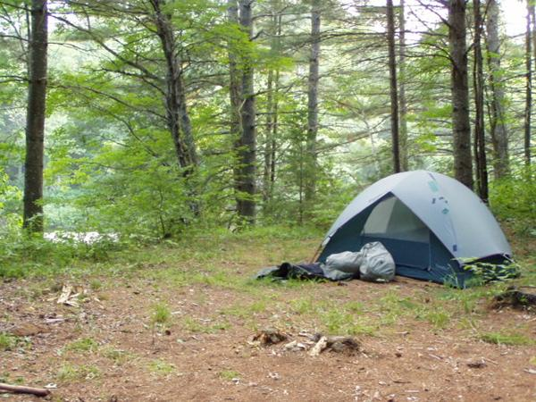 My campsite on state land near Schroon Falls