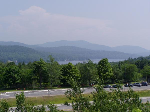 Looking over Schroon Lake from southbound rest area