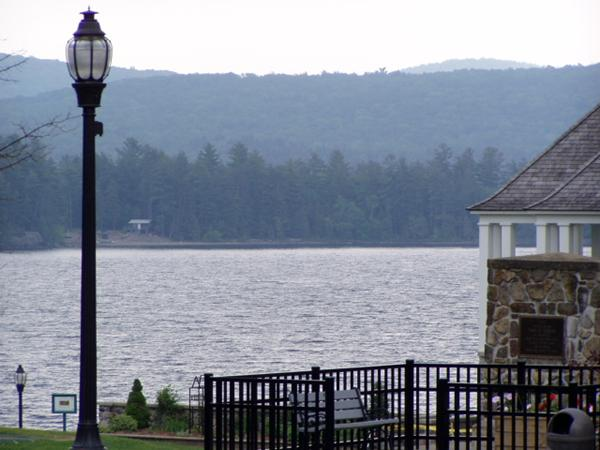 Looking over Schroon Lake from park across from Stewarts again
