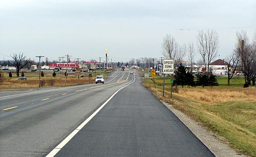 Looking East on US 11 towards Northway Exit 42 &amp Champlain