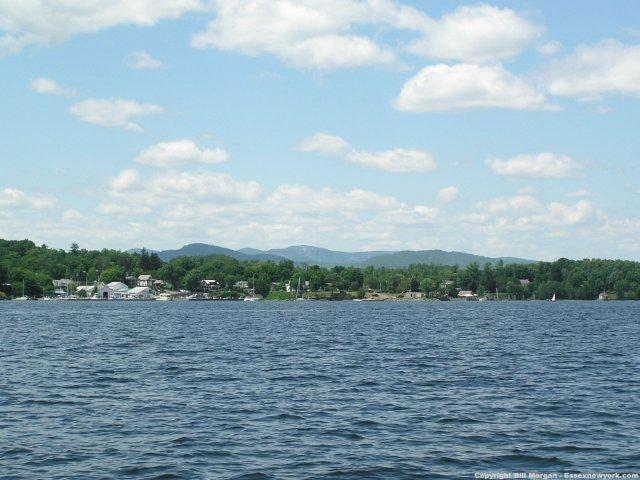 Essex  from Lake Champlain