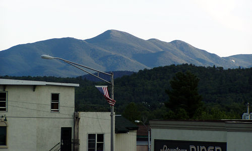 Looking Towards High Peaks from Main St.