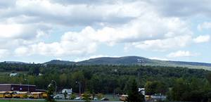 Hills overlooking Saranac hamlet, in Clinton County
