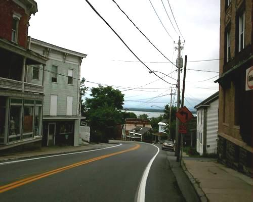 Looking down NY 9N & 22 towards Vermont