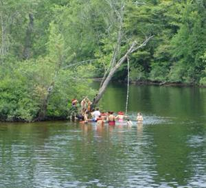 swimming on the Schroon River