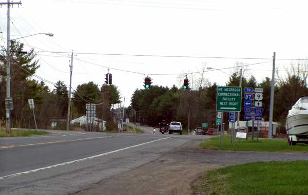 Wilton at US 9, Corinth is to the right over mount MacGregor