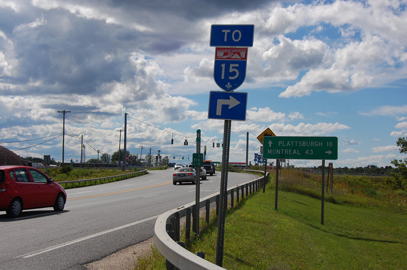 Interstate 87: The Adirondack Northway: Exit 42 - Champlain US 11